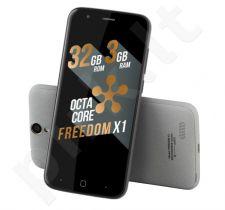 Telefonas Just5 Freedom X1 Dual SIM pilkas
