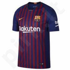 Marškinėliai futbolui Nike Breath FC Barcelona Home Stadium M 894430-456