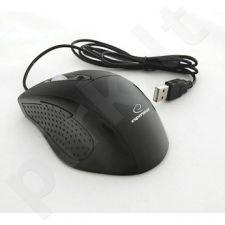 Optinė pelė Esperanza EM107L G-Laser USB | 600/1000 DPI |Juoda