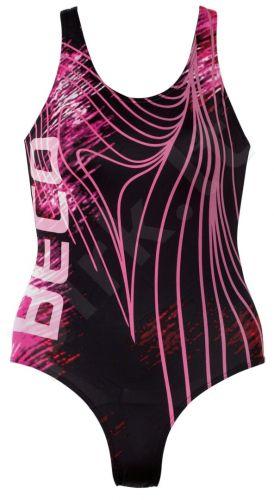 Plaukimo kostiumas moterims AQUA 6470 04 44 black/pink