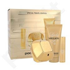 Paco Rabanne Lady Million rinkinys moterims, (EDP 80 ml + kūno losjonas 100 ml + EDP 10 ml)