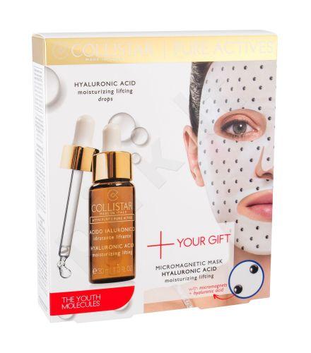 Collistar Hyaluronic Acid Serum + Hyaluronic Acid Mask, Pure Actives, rinkinys veido serumas moterims, (veido serumas 30 ml + Skin Mask Micromagnetic Mask Hyaluronic Acid 1 ks)