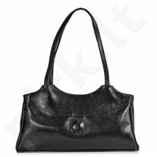 DAN-A T204 juoda rankinė iš natūralios odos , moteriška