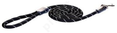 Rogz Pavadys Rope Lang L  Black 180cm/12mm