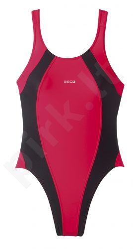 Plaukimo kostiumas moterims BASIC 6747 50 44 red/black N