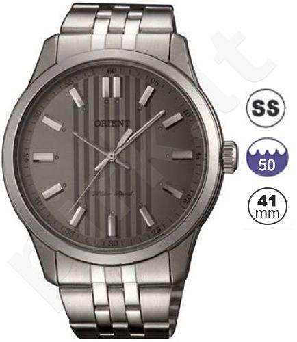 Laikrodis ORIENT .CLASSIC - vyriškas kvarcinis Mov. - Mineral Crystal - S /S Case - S /S apyrankė - Silver / Beige Dial- Analog / WR 50m -