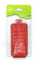 15-V Odinis universalus dėklas 1 Visin raudonas su krokodilo odos imitacija