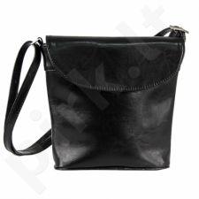 DAN-A T209 juoda rankinė iš natūralios odos , moteriška