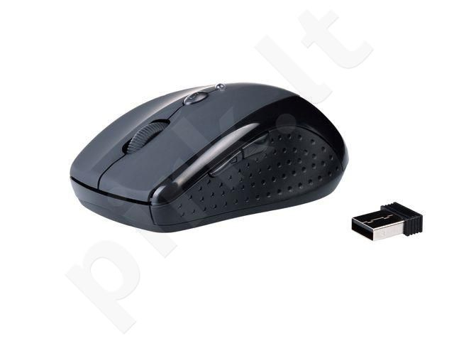 Natec wireless optical mouse KIWI BLACK (1600DPI/nano rec./2,4GHz)