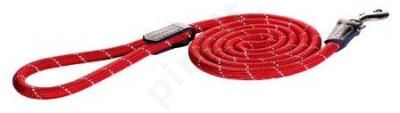 Rogz Pavadys Rope Lang L  Red  180cm/12mm
