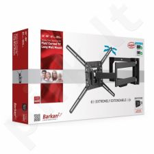 BARKAN 4400.B lygiam/lenktam TV, 4 lankstų, sieninis, juodas