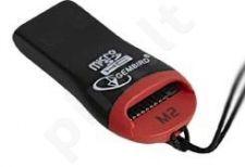 Gembird Mikro kortelių skaitytuvas- PenDrive MicroSd/T-Flash USB 2.0