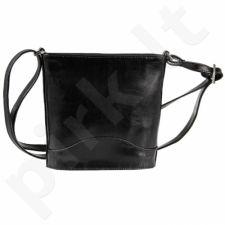 DAN-A T210 juoda rankinė iš natūralios odos , moteriška