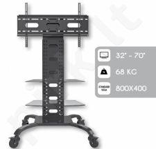 Mobilus stovas Techly skirtas TV LCD/LED/Plazma 32''-70'' VESA, reguliuojamas