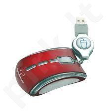 Optinė pelė Esperanza EM109R USB | 800 DPI |NEON| Raudona
