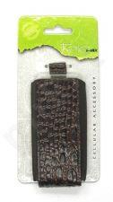 15-V Odinis SEAM universalus dėklas 1 Visin tamsiai rudas su krokodilo odos imitacija