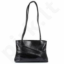 DAN-A T126 juoda rankinė iš natūralios odos , moteriška
