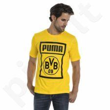 Marškinėliai futbolui Puma BVB Shoe Tag Tee M 754057 01