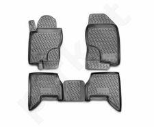 Guminiai kilimėliai 3D NISSAN Pathfinder 2005-2010, 4 pcs. /L50046G /gray