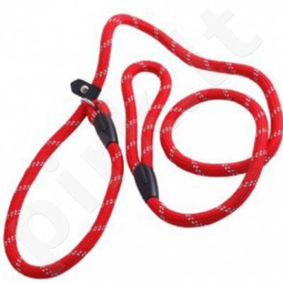 Rogz Pavadys+kilpa Rope Lijn Moxo L Red 180cm/12mm