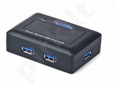 Gembird USB 3.0 HUB – 4 portai, juodas