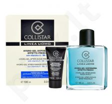 Collistar Men Hydro-gelis losjonas po skutimosi Fresh Effect rinkinys vyrams, (100 ml After-Shave gelis + 30 ml Anti-Wrinkle kremas)