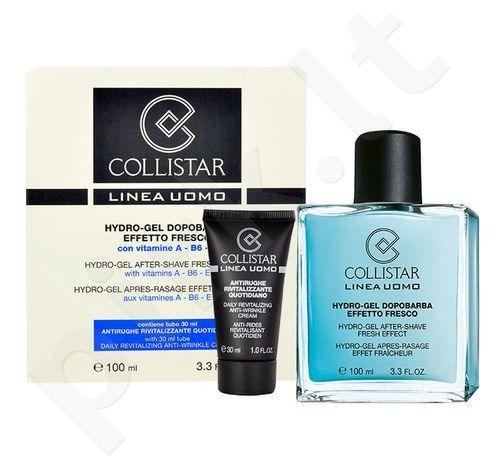 Collistar Men Hydro-gelis losjonas po skutimosi Fresh Effect rinkinys vyrams, (100 ml After-Shave gelis + 30 ml Anti-Wrinkle kremas)