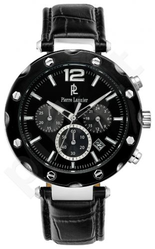 Laikrodis PIERRE LANNIER -COLLECTION chronometras - STAINLESS STEEL - oda - 42 mm - WR:5 ATM