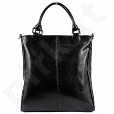 DAN-A T177A juoda rankinė iš natūralios odos , moteriška