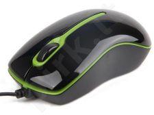 Gembird Optical mouse 1000 DPI, USB, black-green