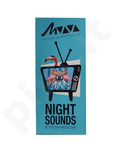 Manhattan akių šešėliai Palette Viva, kosmetika moterims, 5g, (4 Night Sounds)