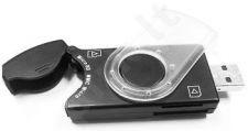 Gembird atminties kortelių skaityt. flash M2, Micro SD ir SIM USB 2.0-PenDrive