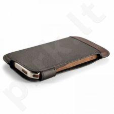 Aukštos kokybės Grain dėklas skirtas iPhone 5/5s rudas