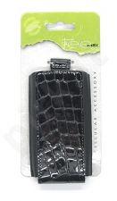15-V Odinis SEAM universalus dėklas 2 Visin juodas su krokodilo odos imitacija