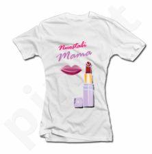 """Moteriški marškinėliai """"Nuostabi mama"""" su lūpdažiu"""