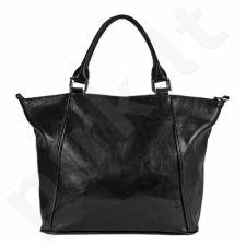 DAN-A T208A juoda rankinė iš natūralios odos , moteriška