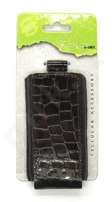 15-V Odinis SEAM universalus dėklas 2 Visin tamsiai rudas su krokodilo odos imitacija
