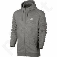Bliuzonas  Nike NSW Hoodie FZ FT Club M 804391 063 pilka