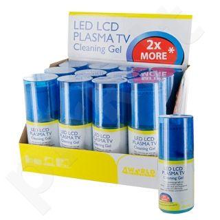 4World LED, LCD, Plasma TV valymo rinkinys, 200ml gelis ir servetėlė