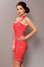 PINK BOOM Elegantiška suknelė arbūzinė rožė 3702-3