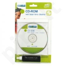 4World Diskas CD-ROM/ DVD-ROM įrenginio valymui  su skysčiu