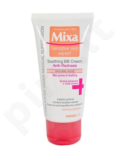 Mixa Soothing BB kremas, kosmetika moterims, 50ml, (Natural Rose)