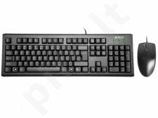 Rinkinys: klaviatūra + pelė A4-Tech KM-72620D USB, US Juoda