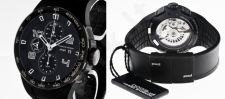 Laikrodis PORSCHE DESIGN P6341 FLAT SIX P6341 - LIMITED EDITION NR chronometras automatinis SS PVD BLACK. 44mm. Day& . Sapphire glass front&back. Rubber strap. PVD BLACK Deployante. WR 120m.