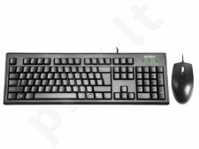 Rinkinys: klaviatūra + pelė A4Tech  KRS-8372 USB, US Juoda