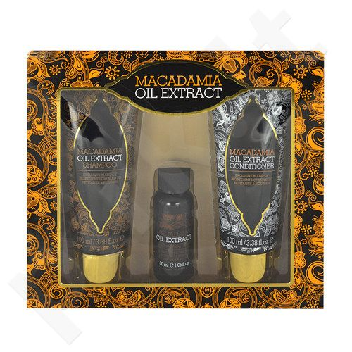 Macadamia Oil Extract Kit rinkinys moterims, (100ml Oil Extract šampūnas + 100ml Oil Extract kondicionierius + 30ml Oil Extract Hair Treatment)