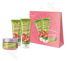 Dermacol Aroma Ritual Rhubarb&Strawberry Kit 7033 rinkinys moterims, (250ml AR Juicy dušo želė + 200ml AR Juicy kūno losjonasl  + 200ml AR Juicy kūno pilingas)