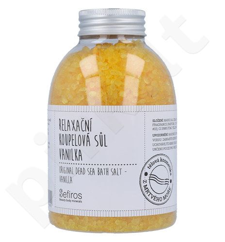 Sefiros Original Dead Sea vonios druska Vanilla, kosmetika moterims, 500g