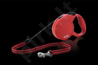 FLEXI CLASSIC (M)  5m raudonas iki 20 kg