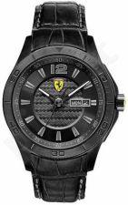 Laikrodis SCUDERIA FERRARI SCUDERIA XX vyriškas MINERAL CRYSTAL oda STRAP kvarcinis WR 50mt 44mm
